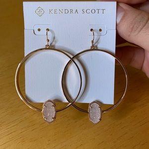 Kendra Scott Elora Rose Gold Drusy Hoops